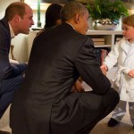 Prince George Meets President Barak Obama in his Pajamas – See the Adorable Photo!
