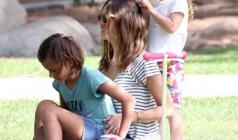 Jessica Alba Enjoys a Day at the Park With her Girls