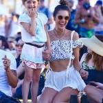 Alessandra Ambrosio Soaks Up the Sun at Coachella With Daughter