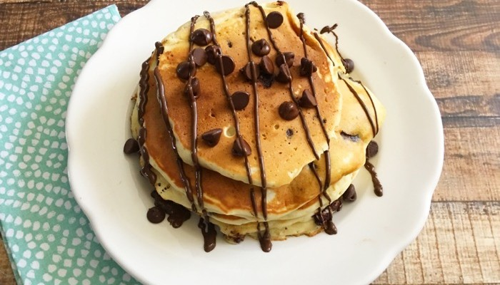 The Most Delicious Chocolate Chip Pancakes