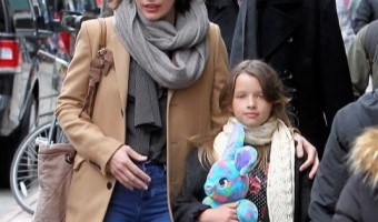 Milla Jovovich & Family Spotted in NYC