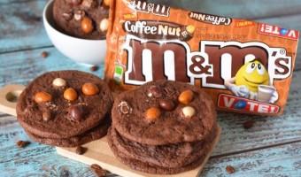 Mocha Chocolate Nut M&M Cookies