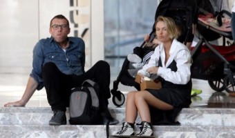 Sam Worthington & Lara Bingle Spend Sunday With Rocket