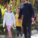 Tobey Maguire Catches Lunch With his Kids