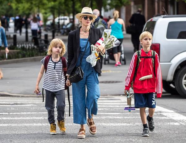 Naomi Watts Hits The Streets Of NYC With Her Sons Alexander And Samuel