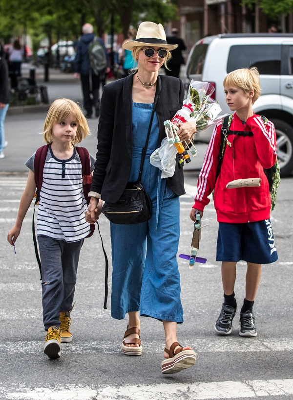 Naomi Watts Hits The Streets Of Nyc With Her Sons
