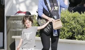 Pregnant Megan Fox And Brian Austin Green Take The Boys To The Park