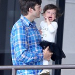 Ashton Kutcher And Mila Kunis Take Wyatt To Dance Class