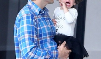 Ashton Kutcher And Mila Kunis Take Wyatt To Dance Class