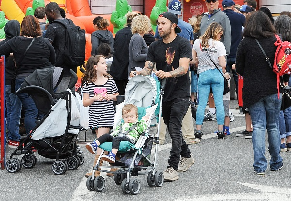 Pete Wentz And Meagan Camper Take The Kids To The Farmer's Market
