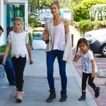 Denise Richards Spends The Afternoon Shopping With Daughters Lola And Eloise