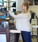 Exclusive... Denise Richards Out Shopping With Her Daughters In Malibu