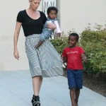 Charlize Theron Parties With her Kids