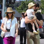 Emily Blunt & John Krasinski Take Hazel to the Farmer's Market