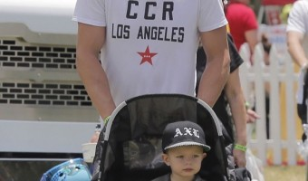 Josh Duhamel & Axl: Father-Son Day at the Fair