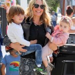 Molly Sims Is all Smiles with Brooks & Scarlett