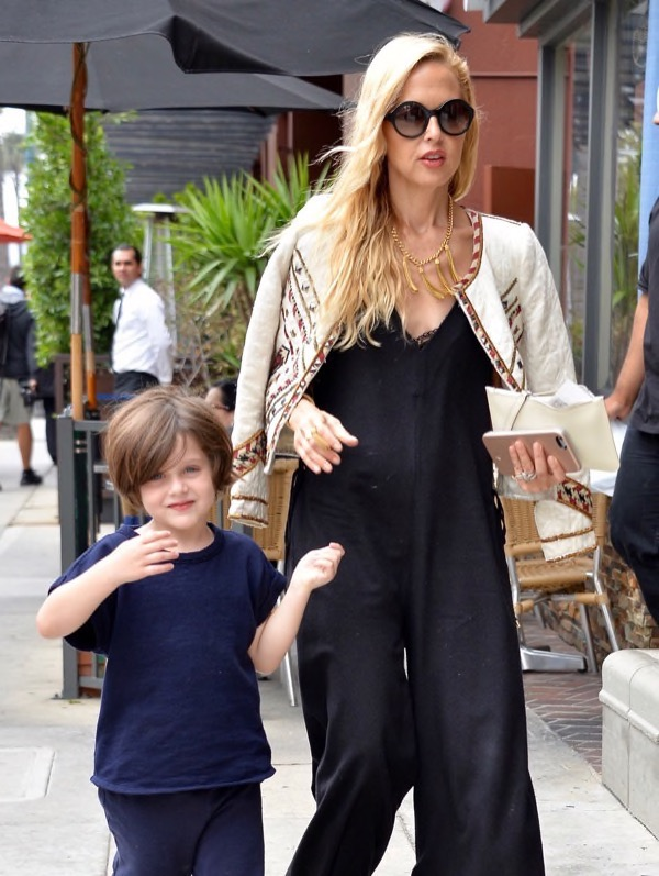 rachel zoe and her son skyler were spotted shopping together in west