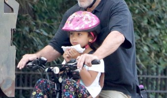 Robert De Niro Takes Daughter Helen For A Bike Ride In Central Park
