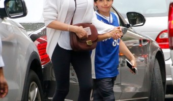 Lauren Silverman Has Lunch With Son Adam In NYC