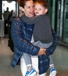 52079187 Actress Jennifer Garner and her son Samuel seen departing from Heathrow Airport in London, England on June 2, 2016. The mother-son duo were on their way to Los Angeles. Jennifer and her family have been staying in London during the filming of 'Justice League'. FameFlynet, Inc - Beverly Hills, CA, USA - +1 (310) 505-9876 RESTRICTIONS APPLY: USA/CHINA ONLY