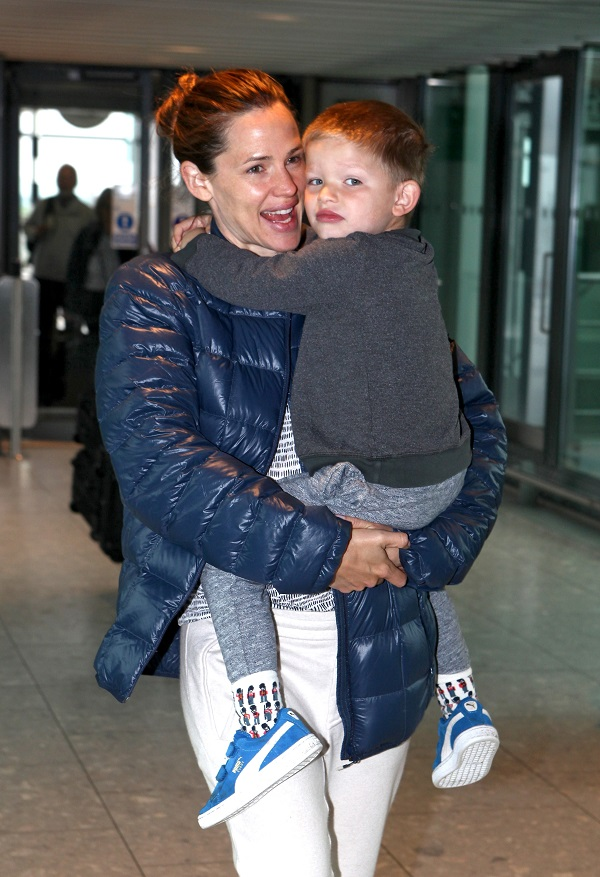 Jennifer Garner And Son Samuel Leave London