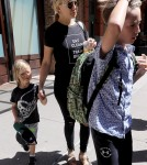 52089756 Actress Kate Hudson was spotted leaving the Greenwich Hotel in New York City, New York with her two sons, Ryder and Bingham, on June 12, 2016. Kate was dressed casually wearing a black t-shirt and jeans. FameFlynet, Inc - Beverly Hills, CA, USA - +1 (310) 505-9876