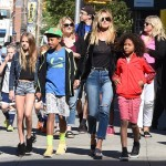 Heidi Klum Explores New York City With Her Four Kids