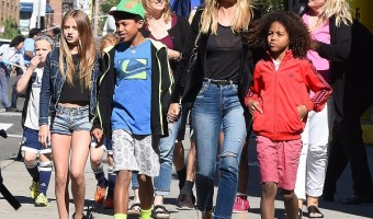 Heidi Klum Explores New York City With Her Four Kids