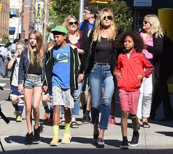 Heidi Klum S Handsome Sons Henry And Johan Are All Grown: Heidi Klum Explores New York City With Her Four Kids