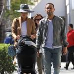 Chrissy Tiegen And John Legend Take Baby Luna Shopping In Beverly Hills