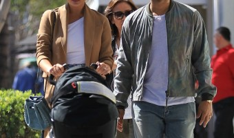 Chrissy Tiegen And John Legend Take Baby Luna Shopping In Beverly Hills