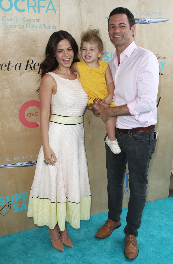 Tammin Sursok At Ovarian Cancer Research Charity Party With Daughter Phoenix