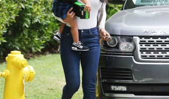 Kelly Rowland Takes Her Son Titan To Music Class