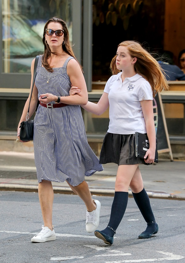 Brooke Shields And Rowan Go For A Walk In SoHo