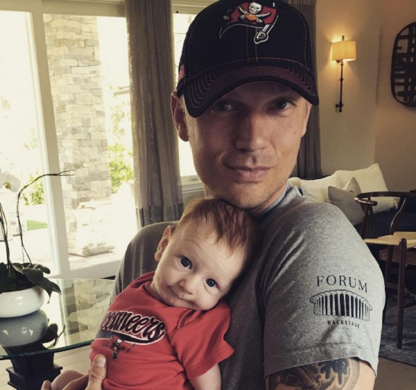 Backstreet Boy Nick Carter Dresses Baby Odin In A Tampa Bay Buccaneers Onesie