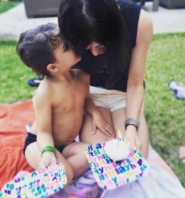 Selma Blair Celebrates Her Birthday With Son Arthur