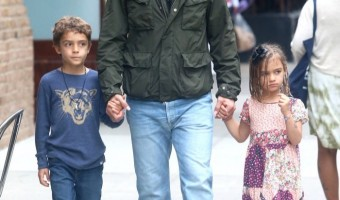 Matthew McConaughey Strolls With Levi & Vida