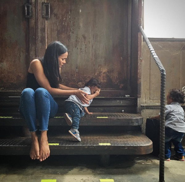 Zoe Saldana Shares Sweet Photo Of Twins Cy And Bowie