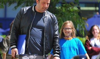 Ben Affleck Picks Daughter Violet Up From School