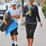 Reese Witherspoon And Son Deacon Phillippe Attend Yoga Together