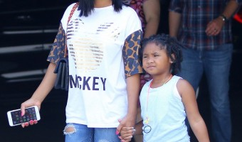 Christina Milian And Violet Go Shopping In Sherman Oaks