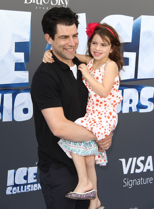 Max Greenfield And Daughter Lily Attend Ice Age