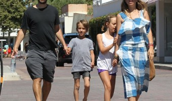 Tobey Maguire Out And About In Malibu With His Kids An Wife
