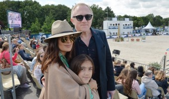 Salma Hayek Attends Paris Eiffel Jump 2016 With Husband And Daughter Valentina