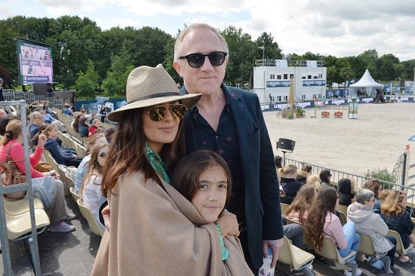 Salma Hayek Attends Paris Eiffel Jump 2016 With Husband And Daughter Valentina