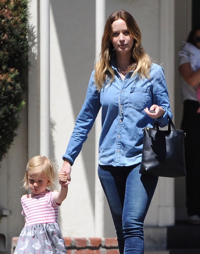Emily Blunt Spends Quality Time With Hazel | Celeb Baby ...