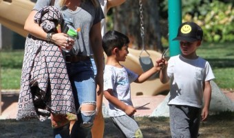 Hilary Duff Enjoys Park Day With Luca