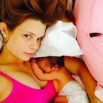 Joanna Garcia Swisher Naps With Baby Sailor