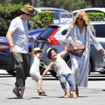 Rachel Zoe & Family Hold Hands on Day Out
