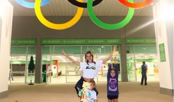 Alessandra Ambrosio & Family Have the Olympic Spirit